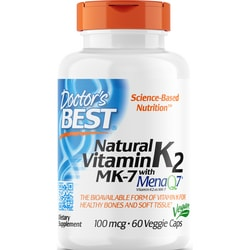 Doctor's BestNatural Vitamin K2 with MK-7 MenaQ7