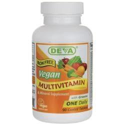 DevaVegan Multivitamin & Mineral Iron Free