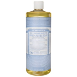 Dr. Bronner's18-in-1 Hemp Baby Unscented Pure-Castile Soap