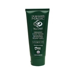 Dr. Bronner'sMagic Organic Shaving Soap Gel Lemongrass Lime