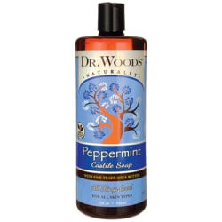 Dr. WoodsPure Peppermint Castile Soap with Organic Shea Butter
