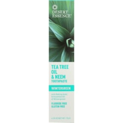 Desert Essence Tea Tree Oil & Neem Toothpaste - Wintergreen