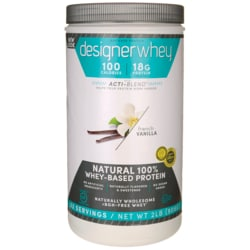 Designer Whey Natural 100% Whey-Based Protein - French Vanilla