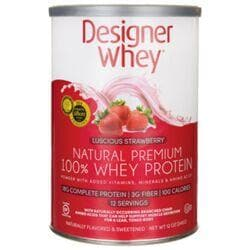 Designer WheyNatural Premium 100% Whey Protein - Luscious Strawberry