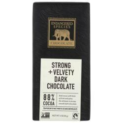 Endangered Species ChocolateDark Chocolate Bar with 88% Cocoa