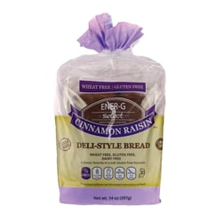 Ener-G FoodsSelect Cinnamon Raisin Deli-Style Bread