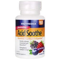 EnzymedicaChewable Acid Soothe - Berry Flavor
