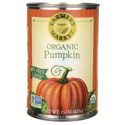 farmers market organic canned pumpkin