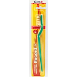 FuchsRecord V Natural Adult Soft Toothbrush