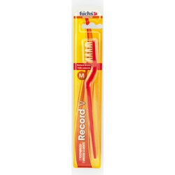 FuchsRecord V Natural Adult Medium Toothbrush