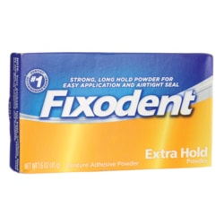 Fixodent Denture Adhesive Extra Hold Powder