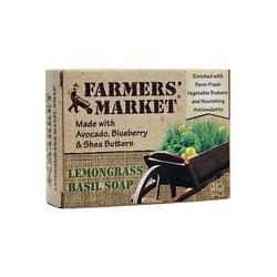 Farmers' Market Lemongrass Basil Soap