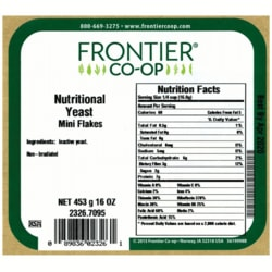 Frontier Natural Products Co-Op Nutritional Yeast Mini Flakes