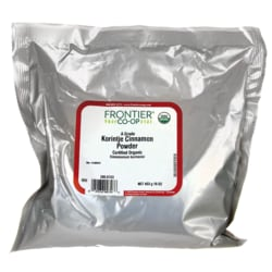 Frontier Natural Products Co-OpCertified Organic Grade A Korintje Cinnamon Powder