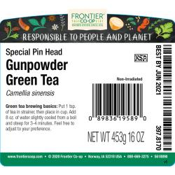 Frontier Natural Products Co-OpGunpowder Tea Special Pin Head