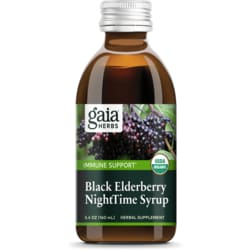 Gaia Herbs Black Elderberry Night Time Syrup