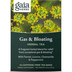 Gaia HerbsGas & Bloating Herbal Tea