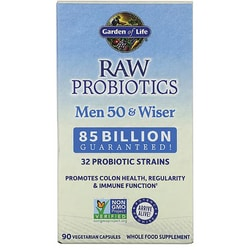 Garden of life raw probiotics men 50 wiser 90 veg caps swanson health products for Garden of life probiotics mood