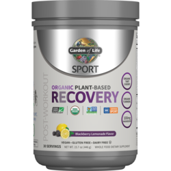 Garden of LifeSPORT Organic Plant-Based Recovery - Blackberry Lemonade