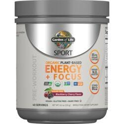 Garden of LifeSPORT Organic Plant-Based Energy + Focus - Blackberry Cherry