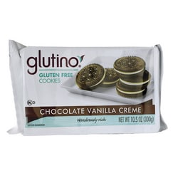 GlutinoGluten Free Dream Cookies - Chocolate Vanilla Creme