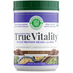 Green FoodsTrue Vitality Plant Protein Shake with DHA Chocolate