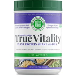 Green Foods True Vitality Plant Protein Shake with DHA Unflavored