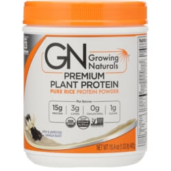 Growing Naturals Organic Brown Rice Protein Powder - Vanilla Blast