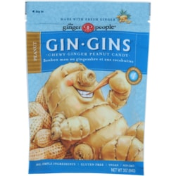 Ginger People Gin-Gins Chewy Ginger Candy Peanut