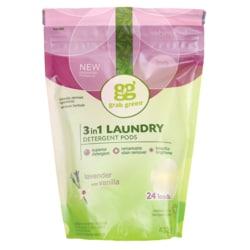 GrabGreen 3-in-1 Laundry Detergent Pods - Lavender with Vanilla