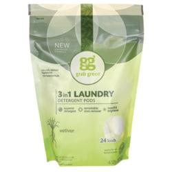 GrabGreen 3-in-1 Laundry Detergent Pods - Vetiver