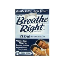 Breathe RightNasal Strips Clear - Large