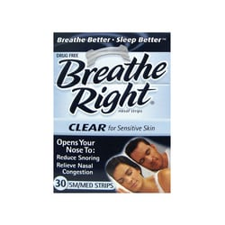 Breathe Right Nasal Strips Clear - SM/MED