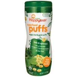 HappyBabyOrganic Superfood Puffs - Kale & Spinach