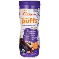 HappyBabyOrganic Superfood Puffs - Purple Carrot & Blueberry