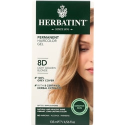 HerbatintPermanent Herbal Haircolor Gel 8D Light Golden Blonde