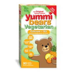 Hero NutritionalsYummi Bears Vegetarian Calcium + Vitamin D3 Sour