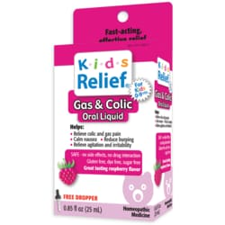 Homeolab USA Kids Relief Gas & Colic Oral Liquid - Raspberry Flavor