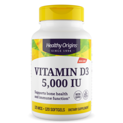 Healthy Origins Vitamin D3 5,000 IU