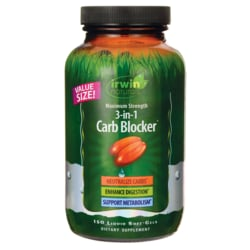 Irwin NaturalsMaximum Strength 3-in-1 Carb Blocker