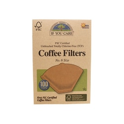 If You Care Unbleached Coffee Filters No. 6