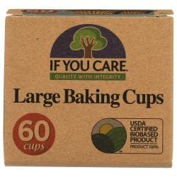 If You CareUnbleached Large Baking Cups