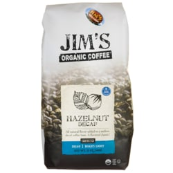 Jim's Organic CoffeeGround Coffee - Hazelnut Decaf