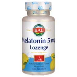 Kal Melatonin Lozenge Natural Lemon Flavor