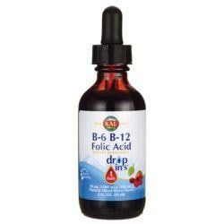KalB-6 B-12 Folic Acid Drop Ins - Mixed Berry