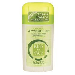 Kiss My Face Deodorant Active Life Cucumber Green Tea Aluminum Free