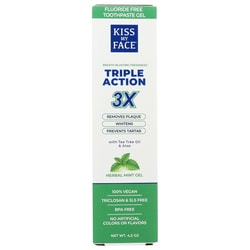 Kiss My FaceTriple Action Toothpaste - Cool Mint Gel