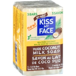 Kiss My FaceKiss My Face Pure Coconut Milk Soap 3-Pack