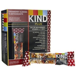 KindKind Plus Bars Cranberry Almond + Antioxidants