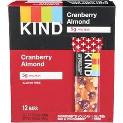Kind Kind Plus Bars Cranberry Almond + Antioxidants